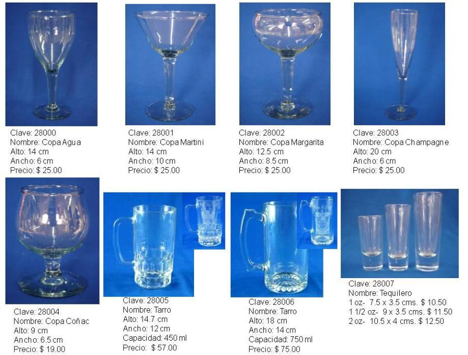 Copas vasos y tarros for Vasos copas vidrio